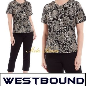 WESTBOUND Floral short sleeve Blouse